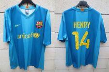 VINTAGE Maillot BARCELONE BARCELONA camiseta NIKE HENRY n°14 shirt away L Barça