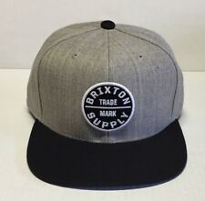 BRIXTON OATH III SNAPBACK HEATHER GREY / BLACK