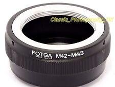 M42 Screw to Panasonic Lumix SONY OLYMPUS Micro 4/3 Adaptor ZEISS Lenses on 4/3