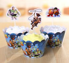 Cupcake Cup Cake Decorating,Toppers Wrappers PARTY DECORATION, Toy Story Buzz