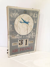 Rare miroir Calendrier Journalier AIR FRANCE de 1951 GERRER AVION AVIATION