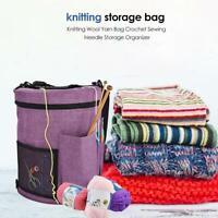DIY Knitting Storage Bag Portable Yarn Thread Tote Household Crochet Hook Holder