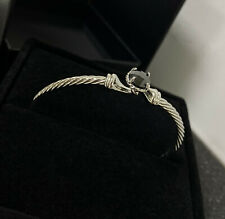 David Yurman chatelaine Bracelet With Black Onyx 925 Sterling Silver 3mm Bracele