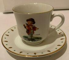 """M.J. Hummel Cup & Saucer """"Little Fiddler"""" Danbury Mint"""