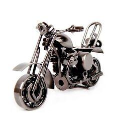 Vintage Motorcycle Model Retro Motor Iron Motorbike Figurine Handmade Prop