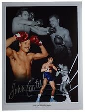 John Conteh Signed autograph 16x12 HUGE photo Boxing Sport AFTAL Memorabilia COA