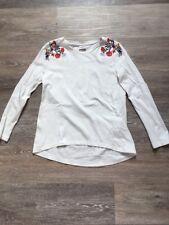 Tape A L'œil T-shirt Manches Longues Blanc Fille 8 Ans 128 Cm