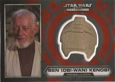 "Star Wars Chrome Perspectives - #11 of 30 Gold Helmet Medallion ""Ben Kenobi"""