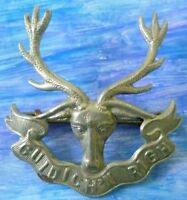 Badge- VINTAGE Seaforth Highlanders Cap Badge (WM, Org*) 2 Lugs