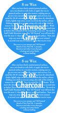 Chalk Furniture Waxes (1) 8 oz Charcoal (black) (1) 8 oz Driftwood Wax Kit