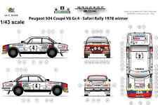 [FFSMC Productions] Decals 1/43 Peugeot 504 Coupé V6 Gr4 Safari Rally '78 Winner