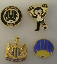 NEWCASTLE UNITED 4 x Football Pin Badges MAGS