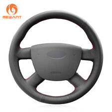Black Genuine Leather Car Steering Wheel Cover for Ford Transit 2010-2013