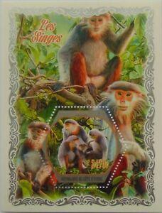 Monkeys apes Red-shanked douc 2018 s/s MNH #WKS2018-07b