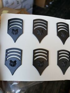 Military Insignia Enlisted Personnel Specialist E-7 Subdued  box of 60 pair