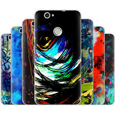 Dessana Abstract Painting Silicone Protection Cover Case Phone For Huawei