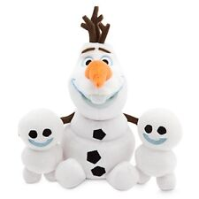 "DISNEY STORE FROZEN FEVER OLAF & SNOWGIES MINI BEAN BAG PLUSH BUNDLE 8"" H NWT"