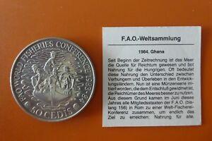 Ghana, 50 Cedis, F.A.O.-Weltsammlung, 1984, original, Prägezahl 100.000