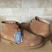 UGG LEIGHTON WATERPROOF SUEDE CHESTNUT ANKLE SHOE BOOTS SIZE US 9.5 3E WIDE MENS