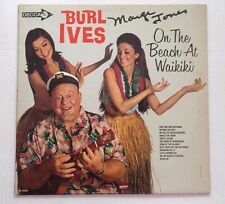Burl Ives On The Beach At Waikiki Hawaiian Luau Part Music LP Vintage Decca