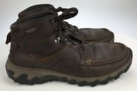 Rockport Cold Springs Mens 9 M Brown Leather Lace Up Waterproof Casual Boots