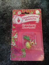 Vintage Strawberry Shortcake Miniatures Apple  Dumplin Cart Kenner Carded