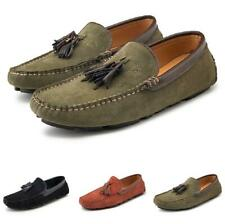 Men Faux Leather Shoes Driving Moccasins Slip on Loafers Tassels Breathable 45 L