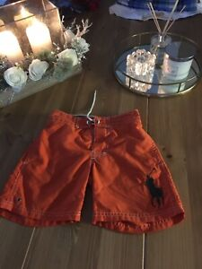 Boys Ralph Lauren Size 4/4t Swim Shorts Orange