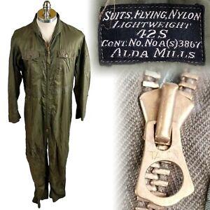 Vintage 1950s Korean War USN Nylon Lightweight Flying Flight Suit 42 S