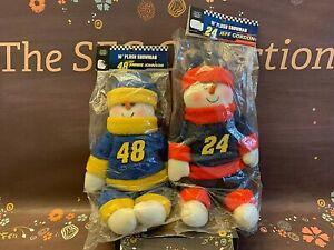 Jeff Gordon #24 Jimmie Johnson #48 Set of 2 Plush Snowmen NASCAR NIP Holiday Dec