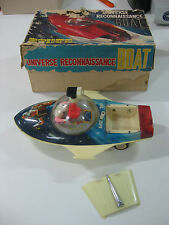 ANTIQUE RED CHINA TIN TOY ME 769 UNIVERSE RECONNAISSANCE BOAT SHANGHAI 60'S-WORK