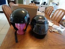 Cirus motorcycle Full Face helmet XL & Half helmet L Both DOT approved