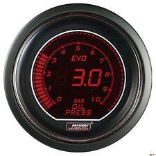 PROSPORT 52mm EVO Series Digital Red / Blue Led Oil Pressure Gauge BAR