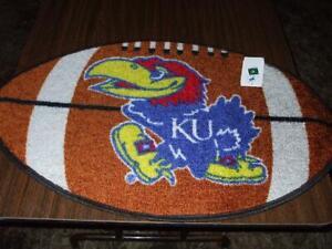 """Kansas Official NCAA football Fanmats Door Floor Shower Mat 22"""" x 34"""" new w/tags"""