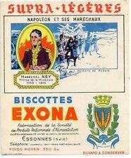 BUVARD PUBLICITAIRE BISCOTTES EXONA NAPOLEON ET SES MARECHAUX MARECHAL NEY