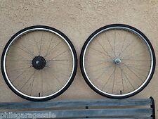 """24"""" Wheel set Suntour Freewheel Chrome Rims Hubs New TubesTires for Junior Racer"""