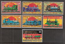 Equatorial Guinea 1978 18th Century Locomotives Trains Steam Engine Set (7) MNH