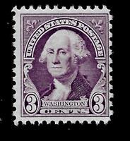 US 1932 Sc# 720 3 ¢  WASHINGTON  Mint NH  - Crisp Color