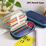 Student Supplies Denim Canvas Zipper Large Pencil Case Stationery Bags Chic