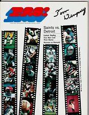 1970 New Orleans Saints Tom Dempsey Signed Program Detroit Lions 63 Yard JSA