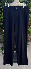 Mens 36W/32L Lee Dress Casual Cotton Black Flat Front Pants