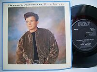 """7"""" VINYL SINGLE. She Wants To Dance With Me by Rick Astley. 1988. RCA. PB 42189."""