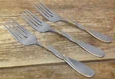 Cambridge French Braid Gold Accent Stainless Vintage WEAR 3 Salad Forks Attitude