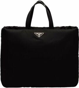 PRADA XLARGE PUFFER NYLON TOTE BAG IN BLACK. BRAND NEW W TAGS. £1095 RETAIL