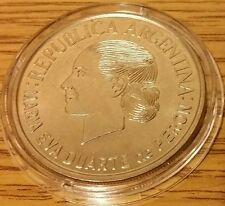 SCARCE Argentina $2 2002 Eva Peron 50th Anniv. of Her Death Coin