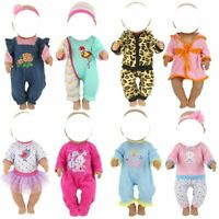 """Doll outfit set for 18 inch baby dolls clothes for 18"""" 43 cm for new born dolls"""