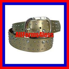 NEW M Medium Gold Silver Buckle Rhinestone Stud Western Cowboy Girl DressUP Belt