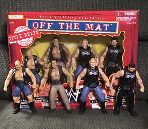 Vtg 1998 WWF WWE JAKKS BCA OFF THE MAT! Title Belt Box Set MIB & Mint Loose!