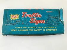 1960/70'S BLUE BOX TOYS - ROAD & TRAFFIC SIGNS - 15 signs in original box