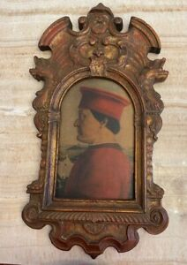 LaBarge Florence Italy Hidden Wall Mirror Hand Painted Pierro Del Francesco
